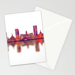 Yangon Myanmar Skyline Stationery Cards
