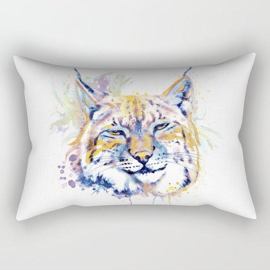 Bobcat Head Rectangular Pillow