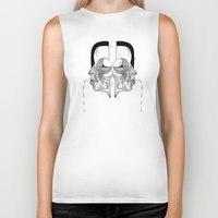 study Biker Tanks featuring 'Face Study I' by Alex G Griffiths