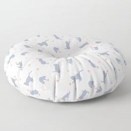 Polka Dot Cats Floor Pillow