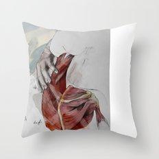 Beneath my skin (Anxiety) Throw Pillow