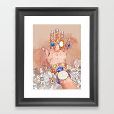 White Henna Framed Art Print