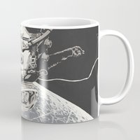 gravity Mugs featuring Gravity by Señor Salme