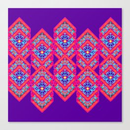 Squared Purple Canvas Print
