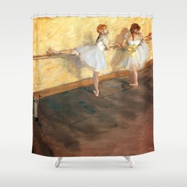 Edgar Degas - Dancers Practicing at the Barre (new color editing) Shower Curtain
