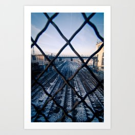 Paris Train Tracks Art Print