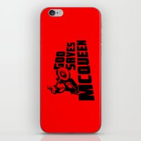 steve mcqueen iPhone & iPod Skins featuring God saves McQueen by dutyfreak