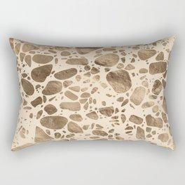 Terrazzo - Mosaic - Gold on pastel Rectangular Pillow