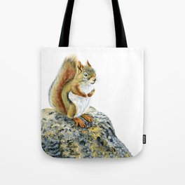 Bright-eyed and Bushy-tailed by Teresa Thompson Tote Bag