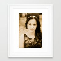 agnes Framed Art Prints featuring Agnes by Sinead O Halloran