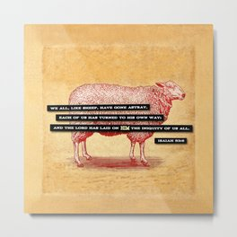 Like Sheep Metal Print