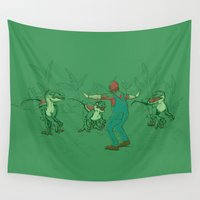 yoshi Wall Tapestries featuring Yoshi Training by Taylor Rose