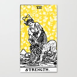 Floral Tarot Print - Strength Canvas Print