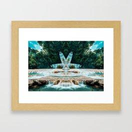 Kaleidoscape: Agua Azul Framed Art Print
