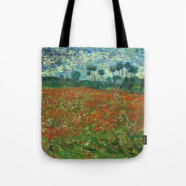 Vincent Van Gogh Poppy Field Tote Bag
