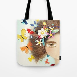 Doll Butterfly Balloons Afro Hair Flowers Tote Bag