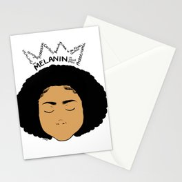 Melanin Crown - Girl 5 - Digital Illustration - Afro Stationery Cards