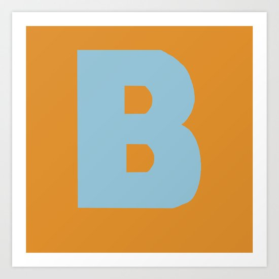 Blue B Art Print