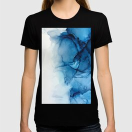 Blue Tides - Alcohol Ink Painting T-shirt