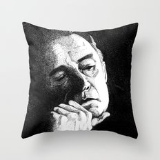 Man In Black JCII Pointillism Throw Pillow