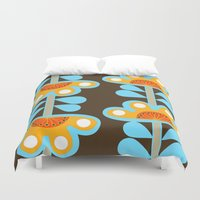 swedish Duvet Covers featuring swedish flowers by Wee Jock