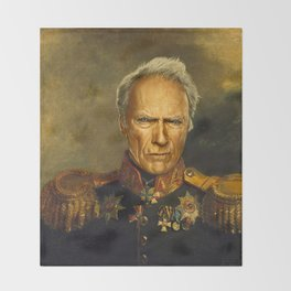 Clint Eastwood - replaceface Throw Blanket