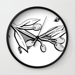 French Olives Wall Clock