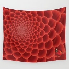 Close up red flower Wall Tapestry