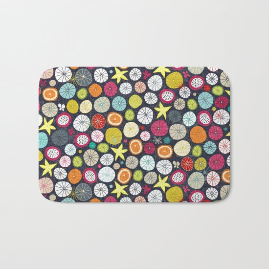 umbrellas cobalt Bath Mat