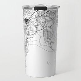 Mumbai White Map Travel Mug