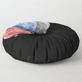 3 moons Floor Pillow