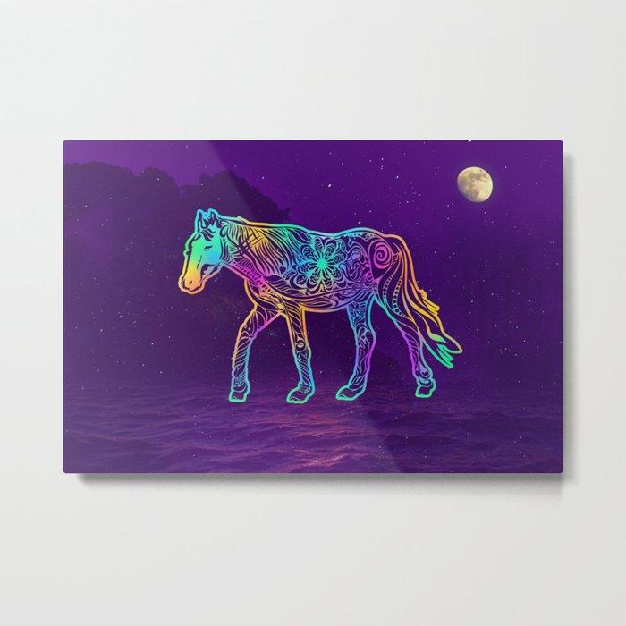 Dark night horse Metal Print