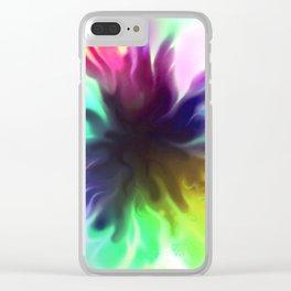 splatty Clear iPhone Case