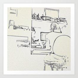 Workroom details Art Print
