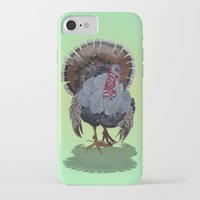 turkey iPhone & iPod Cases featuring wild turkey by Ruud van Koningsbrugge