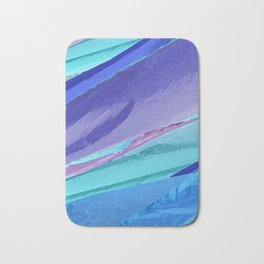 Silky Pastel Waves Bath Mat