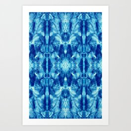 Rorschach-Baroque (3) Light Blue Art Print