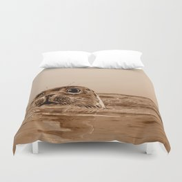 The SEAL - sepia 17 Duvet Cover