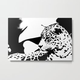 Black And White Wildcat #decor #society6 Metal Print