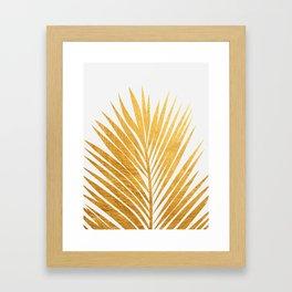Golden leaf III Framed Art Print