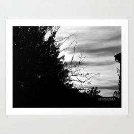Black & White Sky - M Art Print