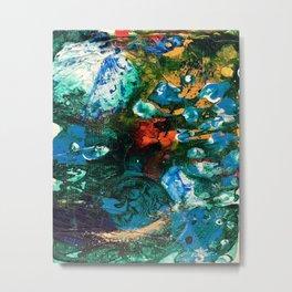 Mini World Environmental Blues 1 Metal Print