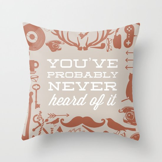 The Study of Hipsters Throw Pillow
