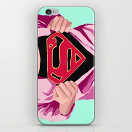 Girl, you're super iPhone Skin