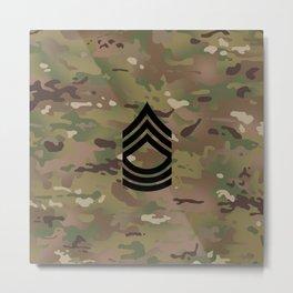 Master Sergeant (Camo) Metal Print
