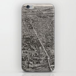 Vintage Pictorial Map of Manchester CT (1914) iPhone Skin