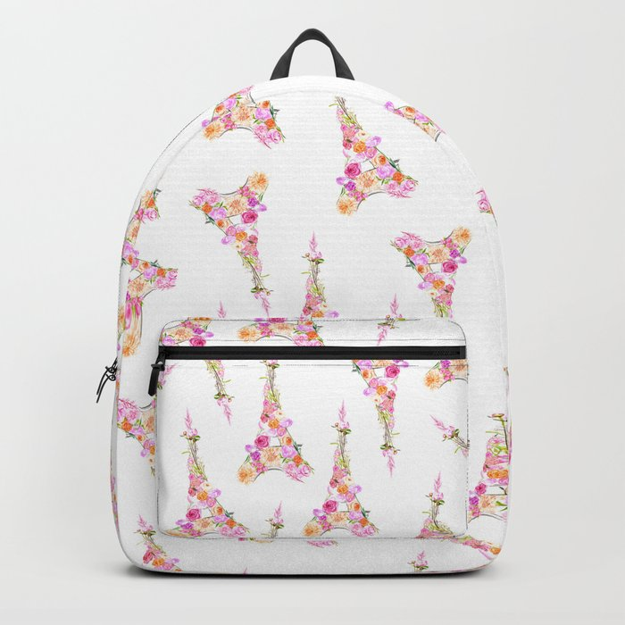 Floral Eiffel Tower Backpack