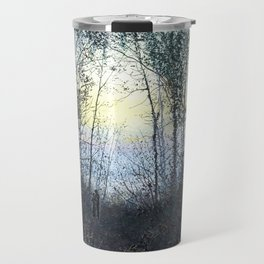 John Atkinson Grimshaw - Lovers in a Woodland Clearing - Victorian Retro Vintage Painting Travel Mug