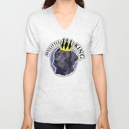 Labrador black king Unisex V-Neck
