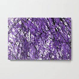 Purple Chaos Metal Print